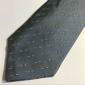 DAMON Silk Chain Links Equestrian Tie Grey